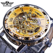 Top Brand Winner Luxury Men's Watches Male Manual Mechanical Watch Male Fashion Luminous Hollow Wristwatch Business Clock for Men