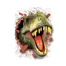 [kingstore] 3D Dinosaur Wall Paper Antistatic Wall Sticker Through-wall Wall Poster Green