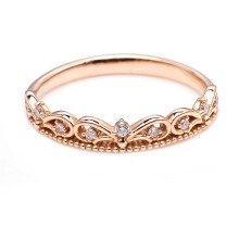 Tiaria 18K Princess Tiara Ring