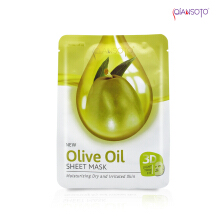 Masker Qiansoto Olive Oil Sheet Mask' Sachet ( Net 35 ml )