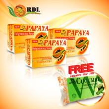 RDL Package Papaya Soap 135Gr Free Cucumber Soap 20Gr