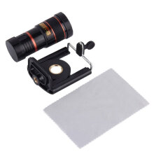 [COZIME] 8X Optical Zoom Telescope Camera Lens for Mobile Phone For iPhone 4 4S 5 black