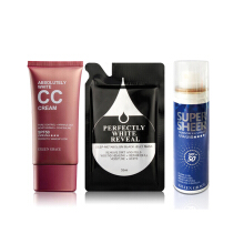 Eileen Grace - Absolutely White Oil Control CC Cream 50ml + Black Jelly Mask 35ml + Sunscreen Cooling Spray 50ml