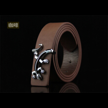 Dandali Original imported Personality Men's Small Gecko Smooth Buckle Joker Belt