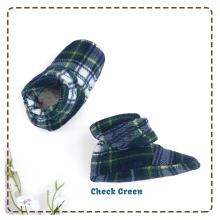 [free ongkir]Cuddle Me Sepatu Bayi Fitted Booties - Check Green 0-6 months