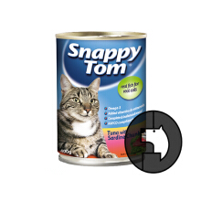 SNAPPY TOM 400 gr cat tuna with sardine chunk