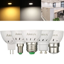 ARILUX® E27 E14 B22 GU10 MR16 3W 250LM SMD2835 60LEDs Spotlight Bulb Pure White Warm White AC220V Pure white