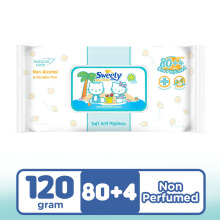 SWEETY Baby Wipes Non Perfumed 80+4s