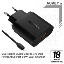 Aukey Charger 2 Ports 36W QC 3.0 - 500294