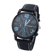 Farfi Quartz Analog Silicone Band Round Sports Wrist Watch
