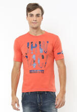 Johnwin - Slim Fit - Kaos Casual Active - Style - Orange