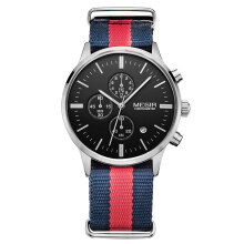 PEKY Megir ML2011G Original Men Watch Women Watches Fashion Sport Quartz Watches Canvas Strap Wristwatch