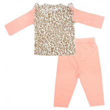 Cribcot TPS Long Leopard Neon Orange  6-9M