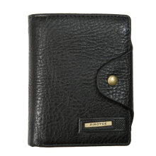 [LESHP]Vintage Wallet Hasp Open Short Men PU Leather Purse For Male Coffee