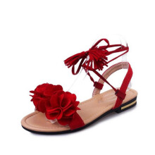 Jantens Bohemian Summer Gladiator Solid Flats Open Toe Women Shoes Casual Ladies Flower Sandals Beach Sandalia Feminine