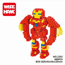 Bricks Wise Hawk 2203 Steel Madman Ironman Red