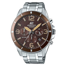 Casio Edifice EFR-553D-5BVUDF Brown Dial Stainless Steel Strep Watch [EFR-553D-5BVUDF]