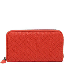 Bottega Veneta Women's  Burned Orange Leather Wallet 114076V001N6517