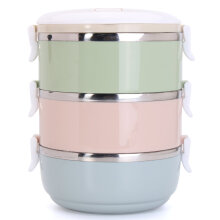 JDwonderfulhouse 3 Tier Stainless Steel Thermal Insulated Lunch Box 2100ML Food Storage Container