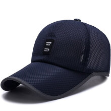 OUTAD  MADE Men Baseball Cap Polyester Fiber Solid Color Mesh Outdoor Sun  Shade Cap ba426cef9f