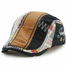 JAMONT Men's fashion Europe and the United States England leisure wild cap splicing beret