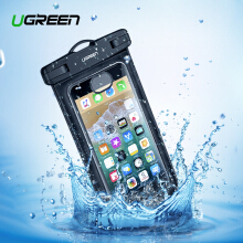 UGREEN Dry Bag Handphone Bag Case Waterproof Case Bag Phone Pouch 6.3 inch For Xiaomi Redmi Samsung Galaxy S9 S8 P Black