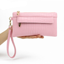 YOOHUI Clutch bag leather handbag fashion lady messenger envelope evening party bag wallet Pink