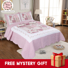 Vintage Story - Shabby Bed Cover Set Korea Size Single 150x200 cm L5 - Pink