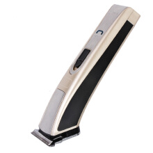 Kemei high speed electric hair clipper rechargeable ergonomic razor cordless adjustable hair clipper Gold