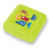 [free ongkir]Crocodile Creek Sandwich Keeper - Green Traffic Jam