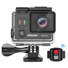 Alfawise V50 Pro 4K Action Camera Time-lapse Video WiFi Control Bluetooth Shutter  - Black