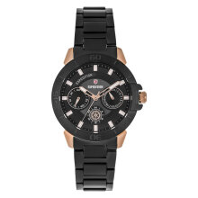 Expedition E 6758 BF BBRBA Ladies Black Dial Black Stainless Steel Strap [EXF-6758-BFBBRBA]