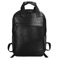 Douguyan PU Leather Laptop Backpack with USB and Headphone Ports for Men Waterproof Bag 326