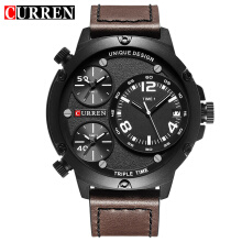 CURREN Top Brand Luxury Mens Watches Male Leather Sport Military Clock Men Quartz Watch 8262