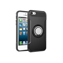 RockWolf iphone 5/5s/5SE case TPU metal ring shell magnetic phone holder
