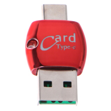 Blitzwolf Bakeey™ Portable Type-c OTG USB 2.0 Flash Memory Card TF Card Reader for Xiaomi Mobile Phone Red