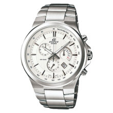 Casio Edifice EFR-500D-7AVUDF White Dial Stainless Steel Strep Watch [EFR-500D-7AVUDF]