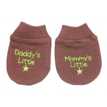 Cribcot Sarung Tangan Daddy's Mommy's Little - Coffee Brown Olive Green