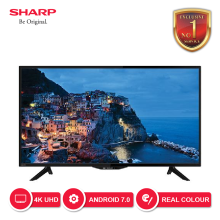 SHARP Smart Android LED TV 4K 40 Inch - 4T-C40AH1X [SHARP EXCLUSIVE SERVICE]