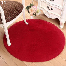 Farfi Home Decor Bath Bedroom Non-slip Floor Shower Rug Yoga Plush Round Mat