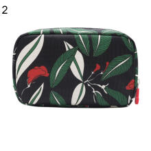 Farfi Flower Floral Makeup Storage Organizer Pouch Large Capacity