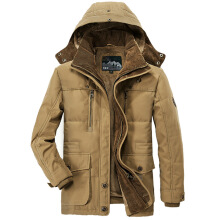 ESG Winter Jacket Men 5XL 6XL Warm Big Size Coat Thicken Windbreaker High Quality Fleece Cotton-Padded Parkas Military Overcoat Brown 6XL