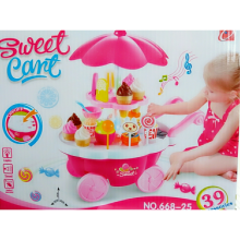 Theona Tata - Ice Cream Cart Playset , Sweet Shop Luxury Candy Cart , Mainan Anak