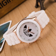 PEKY 6170 Quartz Watch Casual Silicone Watches Shamrock Clock