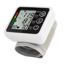 Intelligent Health Care Automatic Digital LCD Arm Style Blood-pressure Monitor Black