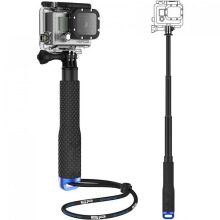 Metal Lid Pov Extendable Pole Monopod for GoPro / Xiaomi Yi / Xiaomi Yi 2 4K Black