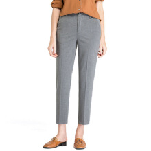 BESTIELADY 0105 Slim Straight Cropped Pants