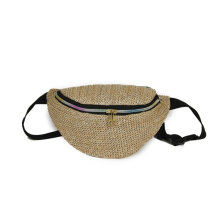 [COZIME] Summer Women Weave Straw Woven Waist Bag Women Small Size Zipper Waist Bag Others1