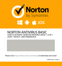 Norton Antivirus Basic 1 Device