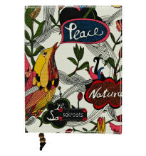 Sakroots Journal White Peace Multicolor